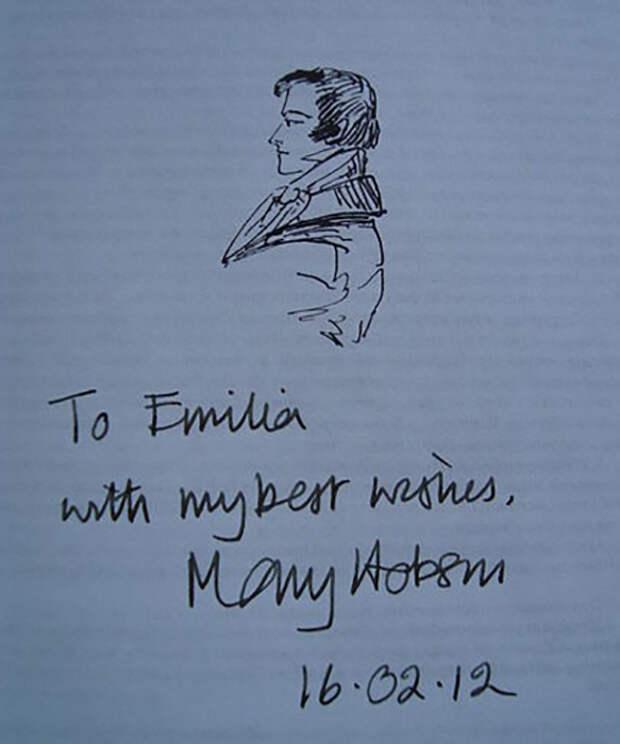 Автограф Мэри Хобсон на странице издания «Евгения Онегина». После презентации в МПГУ.