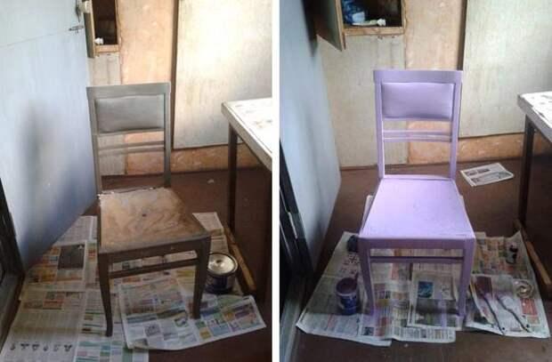 """стулья - в """"лавандовый""""!"""