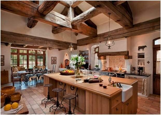 Деревянный потолок в интерьере: особенности и нюансы выбора (31 фото)