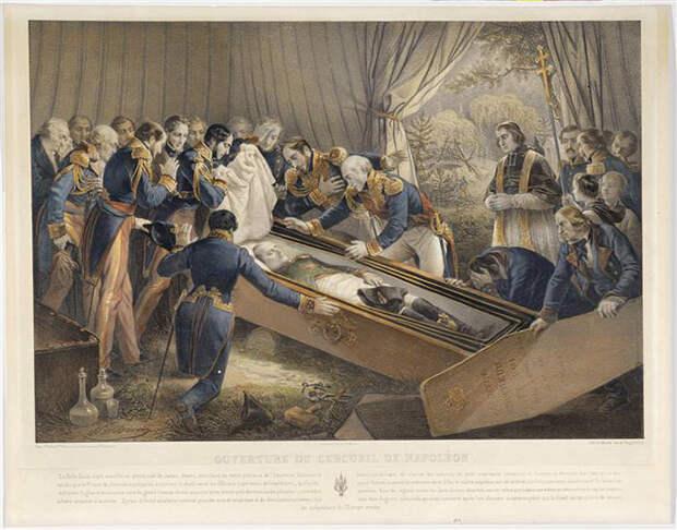 Открытие гроба Наполеона на острове Святой Елены в октябре 1840 года, автор - Николя-Юсташ Маурин.