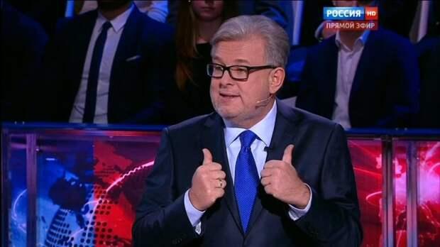 Мы вас не испугались, а послали: Соловьёв жёстко поставил на место украинца Карасёва