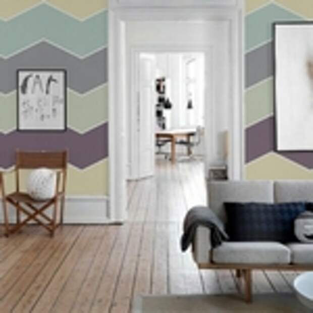 Покраска стен в два цвета