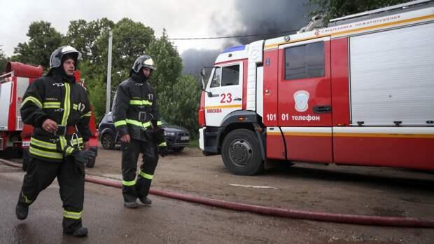 Жилой дом на улице Пятницкой загорелся в центре Москвы