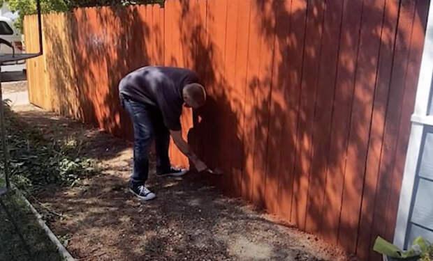 Соседи пожаловались на забор и заставили его снести. Мужчина решил их проучить и рассадил по участку манекены