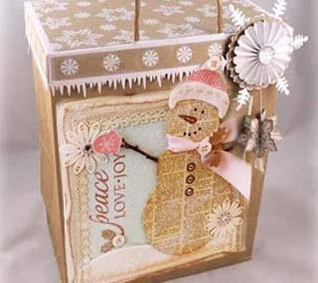 Скрапбукинг в упаковке подарков