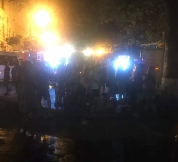 В Севастополе горел «Мир бургера»