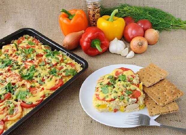 Запеканка с рисом и овощами. \ Фото: google.com.