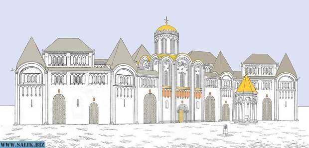 Реконструкция замка Андрея Боголюбского. Чем-то напоминает католические храмы.