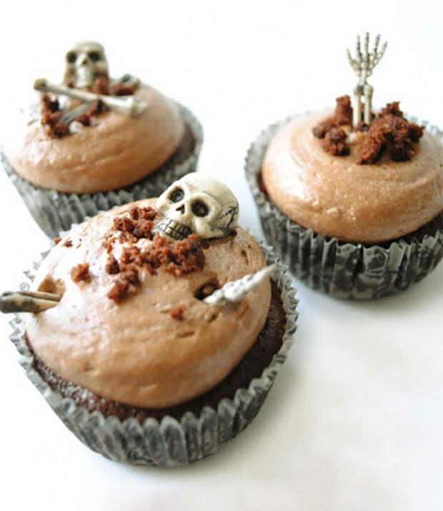 Страшные кексы на Хэллоуин