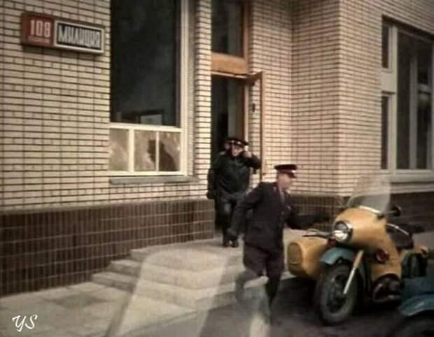Мотоцикл особого назначения - М-100 авто, милиция, техника