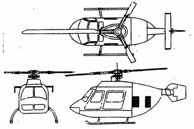 Проект вертолёта VolJet Model-280 - Нетрадиционная любовь Бруно Наглера | Warspot.ru