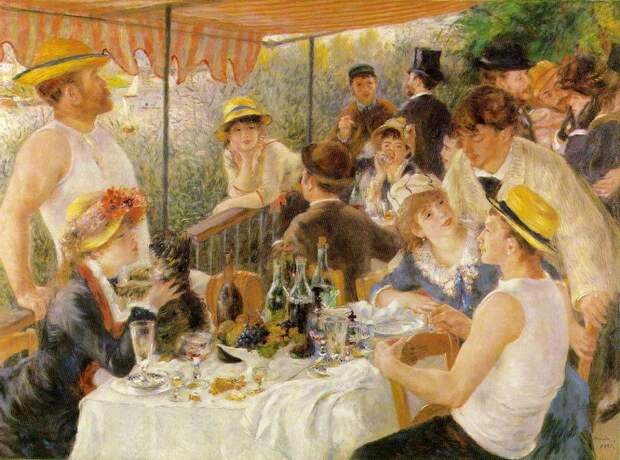 Завтрак гребцов 1880–1881,Ренуар, Пьер Огюст (1841-1919)  Luncheon of the Boating Party,