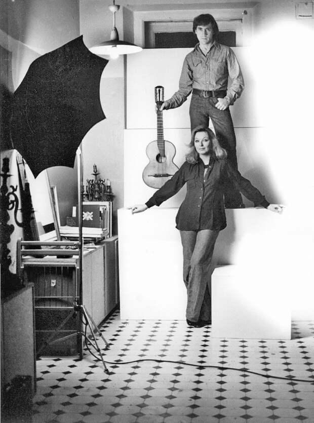 Владимир Высоцкий и Марина Влади в фотосессии 1975 год.