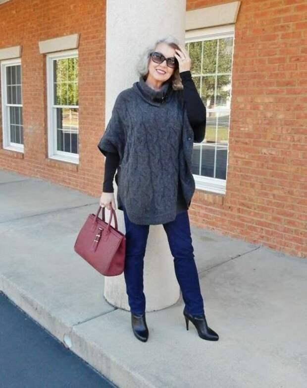 Как носят скинни женщины после 50+ ?