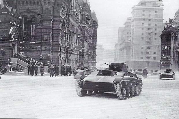 Легкий танк Т-60. Москва, Парад на Красной площади. 7 ноября 1941 года. Велика Отечественная война, История Родины, СССР