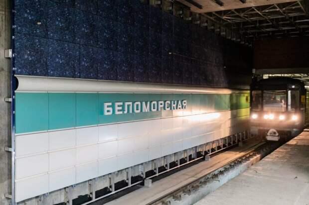 Станция «Беломорская» готова на 85 процентов