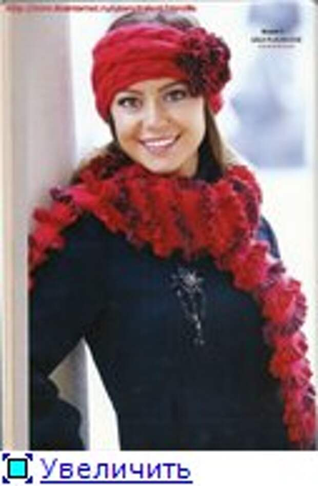 Журнал по вязанию шапочек и шарфов спицами