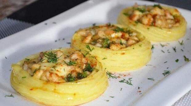 Картофельное гнездо - праздничный вариант картофельного пюре