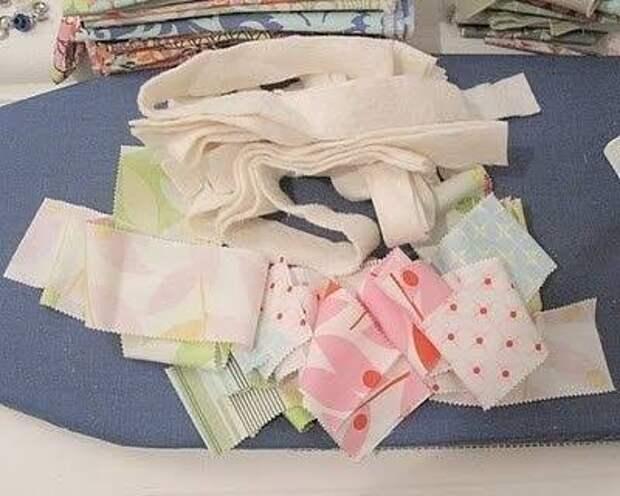 Плетём корзинку из полосок ткани 1