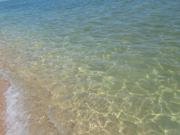 Азовское море — чистая прозрачная вода без медуз и водорослей