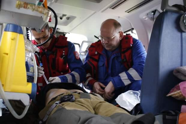 Как анестезиологи Московского авиацентра спасают людей в небе. Фото: Департамент ГОЧСиПБ