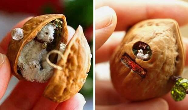 Щёлкаем орешки: скорлупа грецкого ореха как материал для вашего творчества, фото № 10