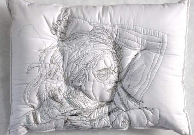 "Sleep Series "" by Artist Maryam Ashkanian | Pillow art, искусство, подушки ручной работы"