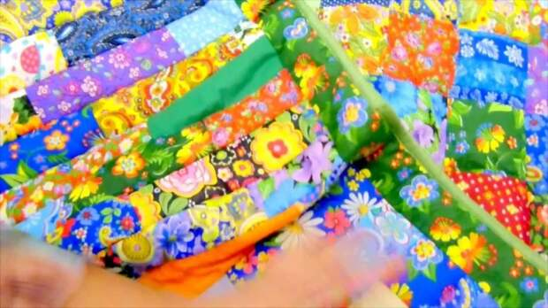 Лоскутное одеяло просто, для начинающих. МК
