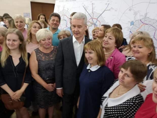 Встреча мэра Москвы с жителями Митина. Фото: Анна Бойцова