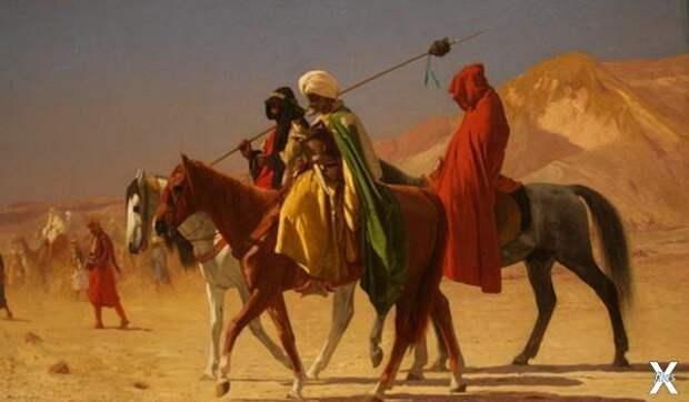 Арабы пересекающие пустыню