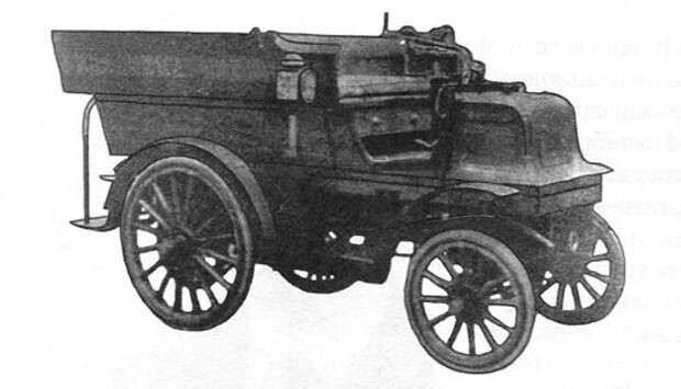 Восьмиместная линейка. На таких автомобилях в 1896 г. впервые в России было организовано регулярное пассажирское сообщение между Ялтой и Симферополем
