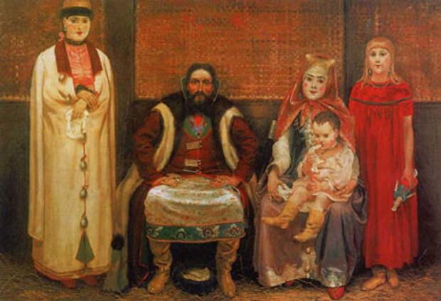 А.П. Рябушкин. Семья купца в XVII веке