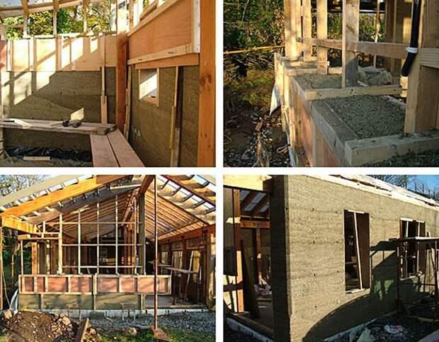 Дом создавали только из натуральных материалов и по особой технологии.