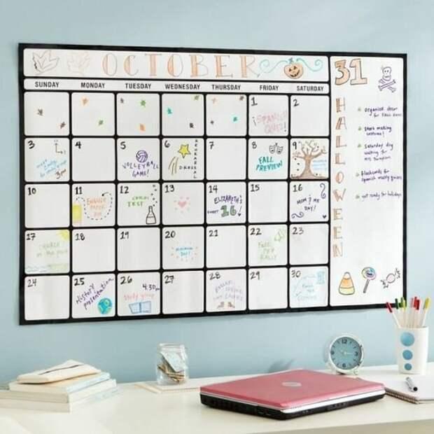 5 необычных календарей, которые легко сделать своими руками