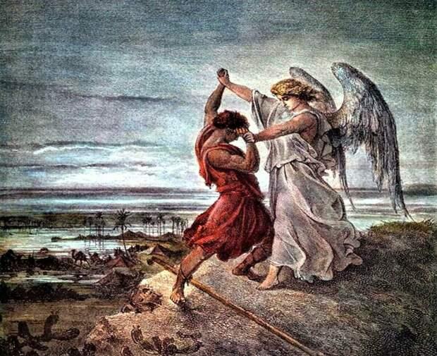 Битва Иакова с ангелом (Иллюстрация из открытых источников)