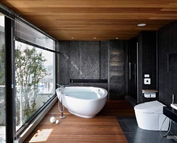 Натуральные мотивы в оформлении ванной