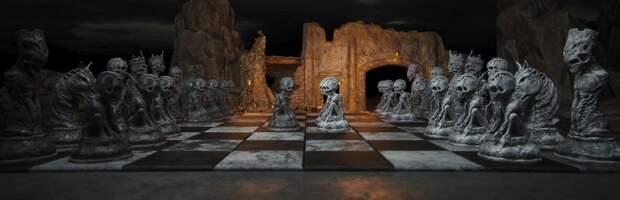 Цифровой художник Войцех Магирски и его мрачные шахматы