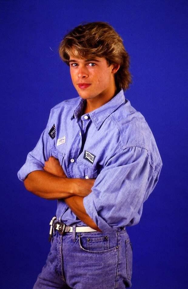 23-летний Брэд Питт, Брэд Питт 1987, Kathy Amerman 1987, brad pitt 1987