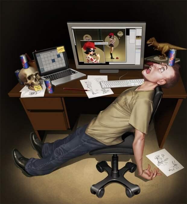 Вдохновляющие иллюстрации Дэвида Дунстана