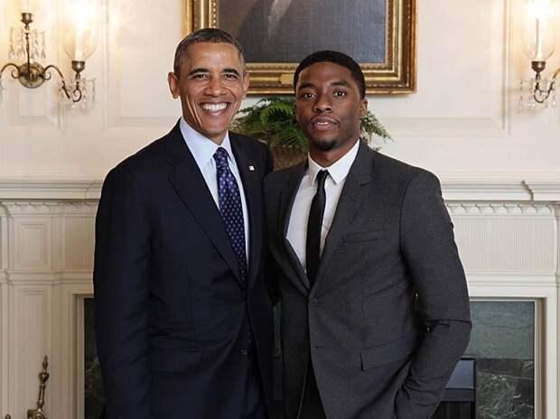 Барак Обама и Чедвик Боузман