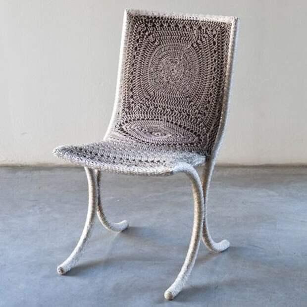 вязаные кресла и стулья вязание идеи