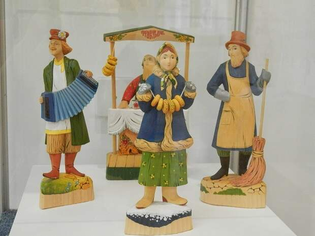 росписные богорордские игрушки