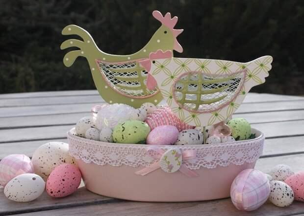 пасхальные композиции из яиц
