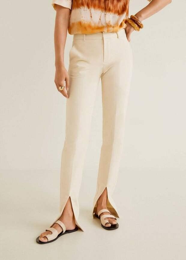 Модные брюки с разрезами внизу. 10 элегантных образов на заметку