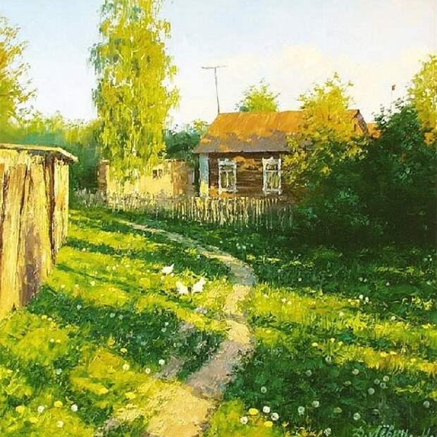 Почему так притягивает русская глубинка на лирических деревенских пейзажах Дмитрия Левина