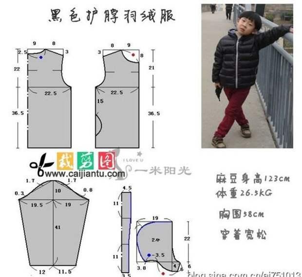 выкройки детских курток для мальчика и девочки