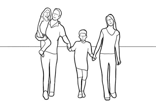 Пример семейной фотографии