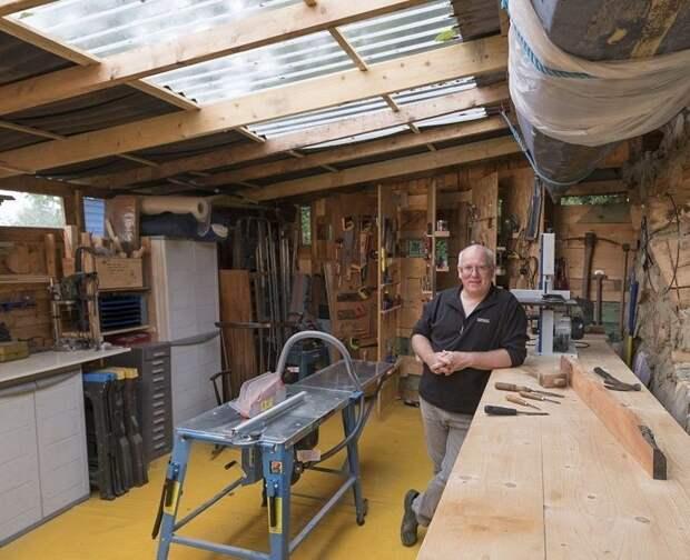 Марка Хамфи построил мастерскую из строительных остатков Лучший сарай года, идея, конкурс, сарай, строитель, финалист, фото