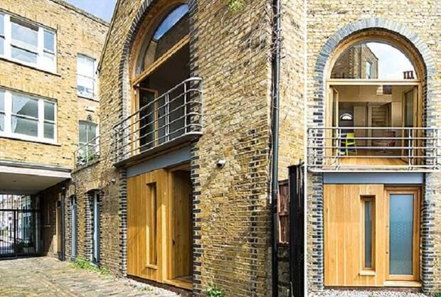 Маленький дом в рабочем районе лондонского Ист-Энда.