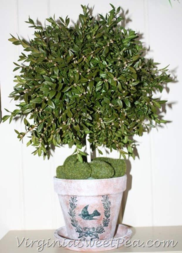 Идеи декорирования и винтажный декупаж на цветочных горшках (40) (345x480, 188Kb)